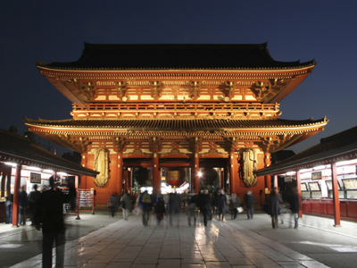 Picture of Sensō-ji, an ancient Buddhist temple located in Asakusa, Tokyo, Japan.