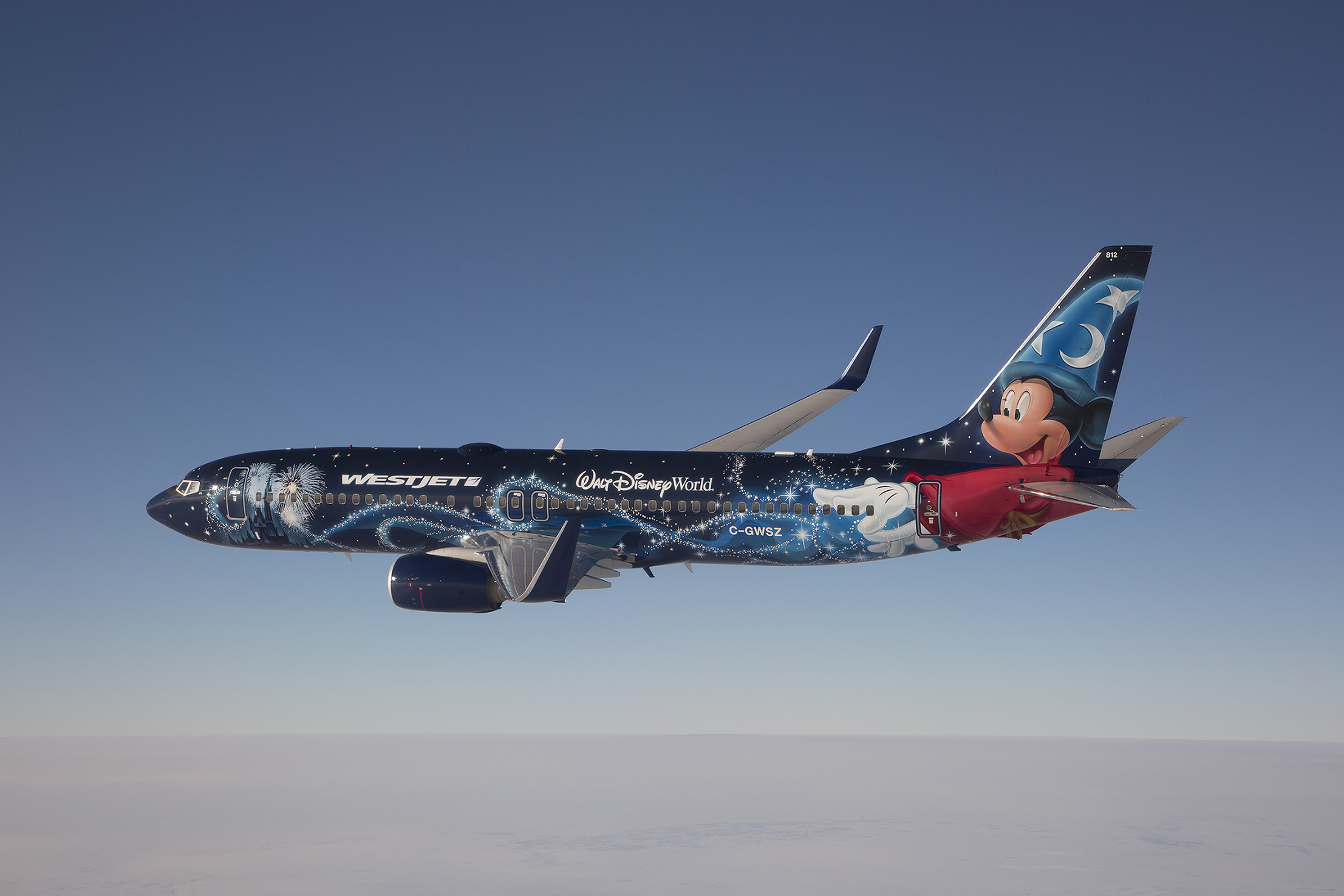 WestJet Disney Magic Plane