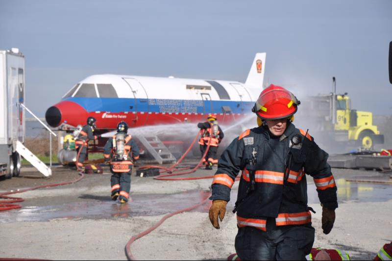 Firefighter at YVR
