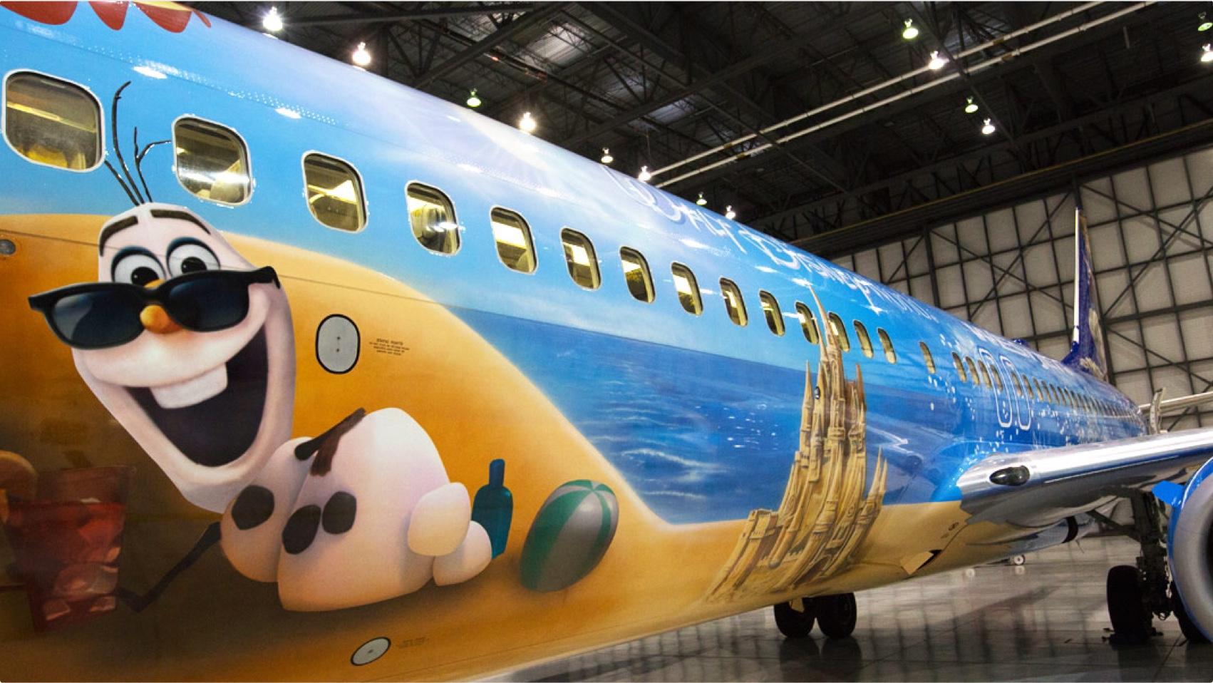 Aircraft of the Month WestJet Frozen Plane & Aircraft of the Month: WestJet Frozen Plane | YVR