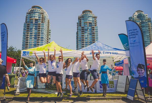 YVR Ambassadors at Vancouver Dragon Boat Festival