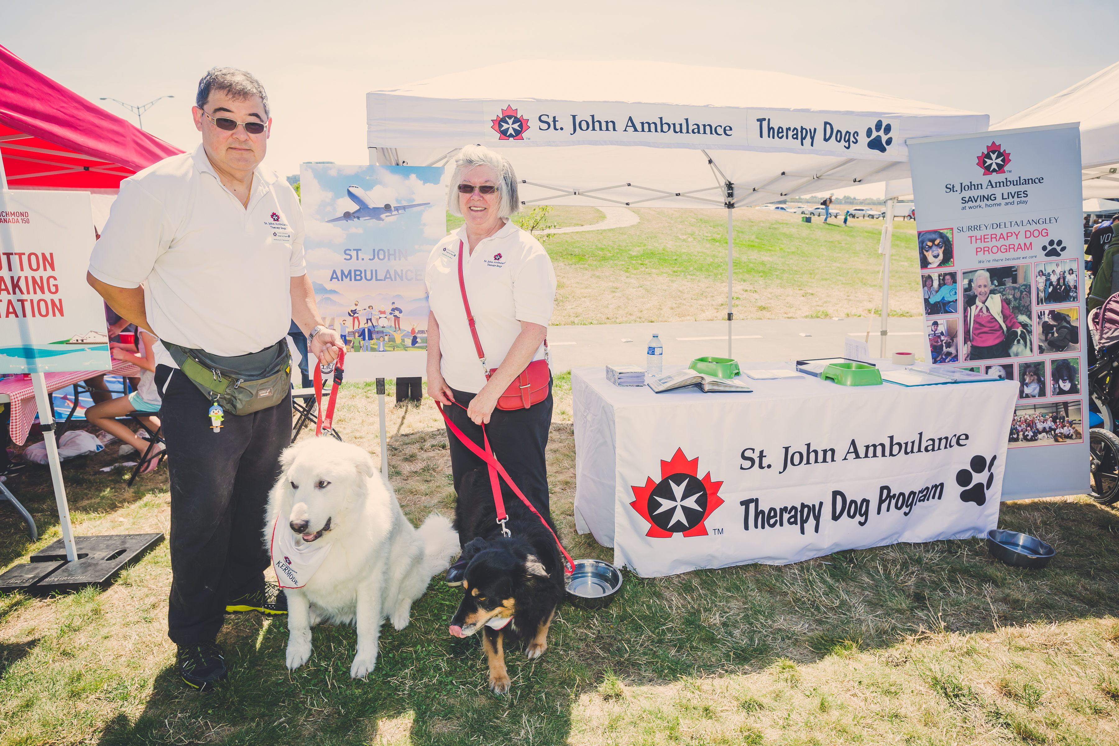 St John Ambulance at their booth