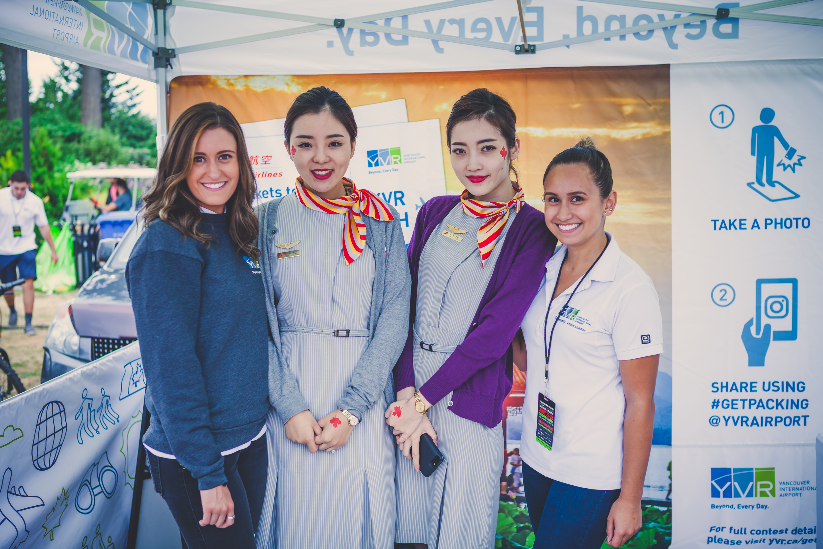 Flight Crew with Capital Airlines flight attendants