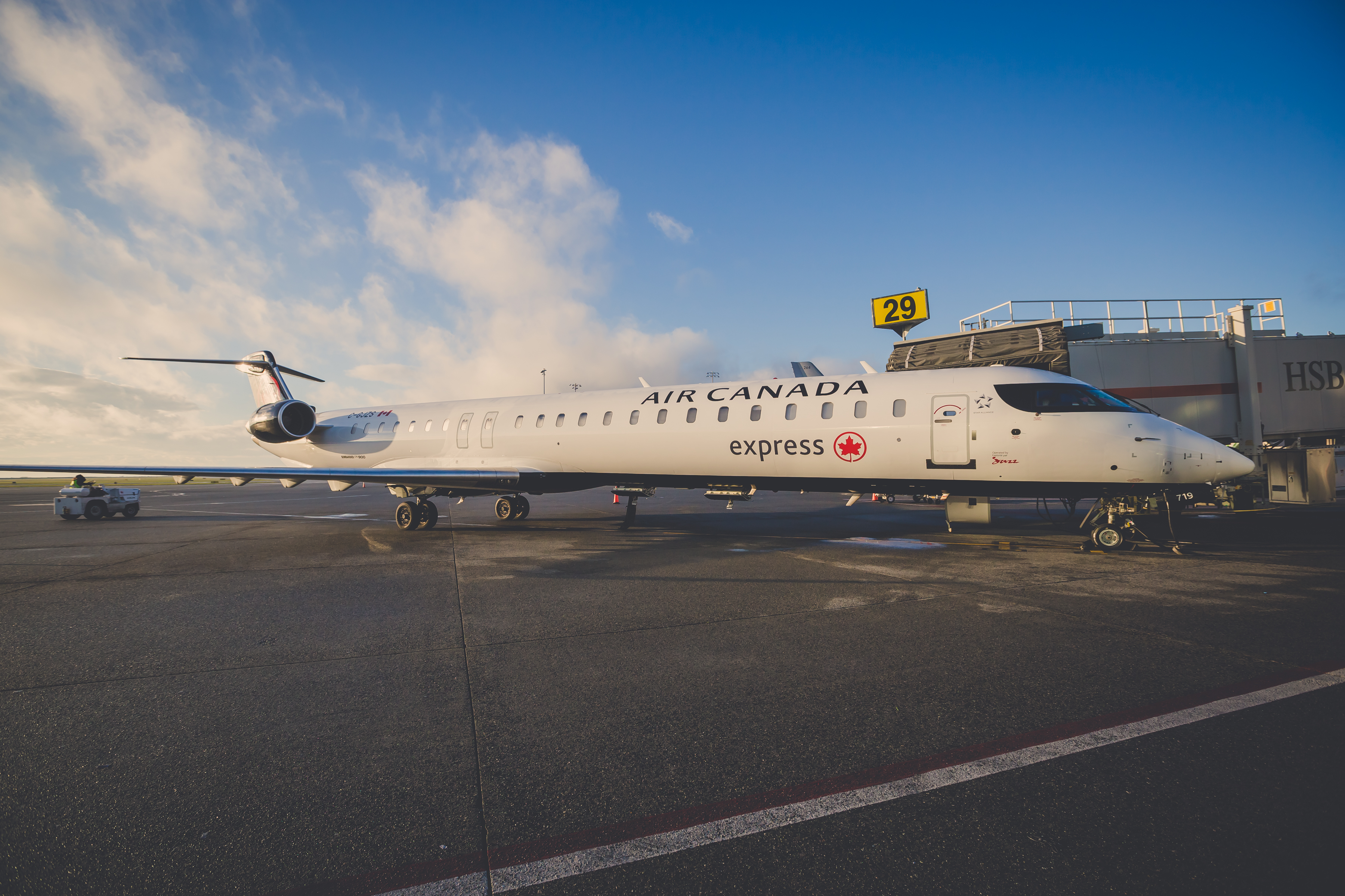 Air Canada Express CRJ Aircraft for Yellowknife inaugural