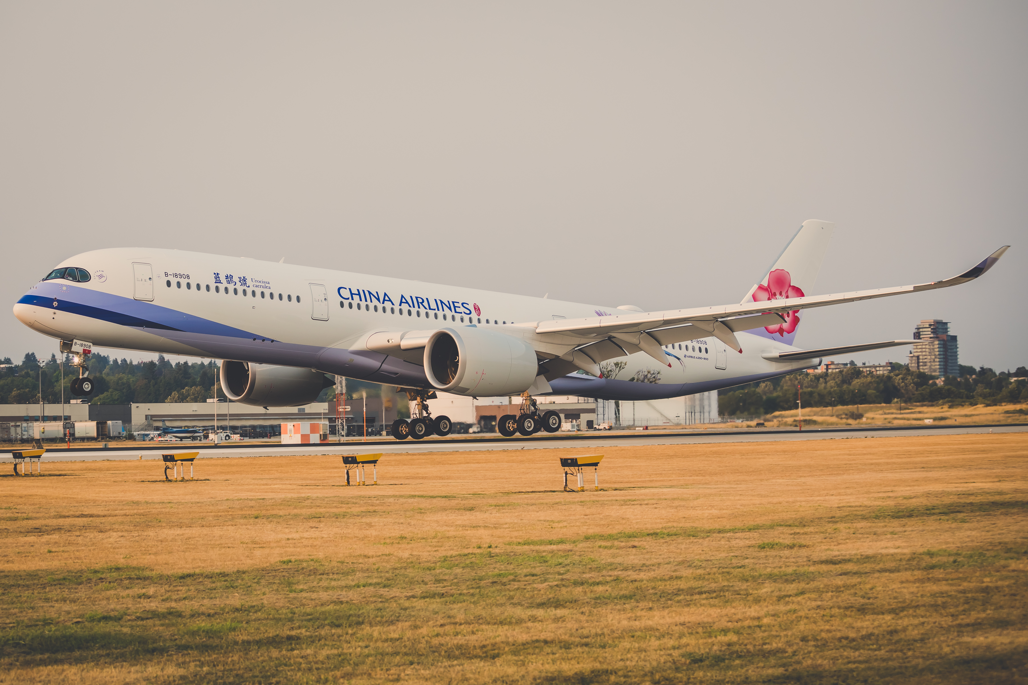 China Airlines A350 inaugural flight
