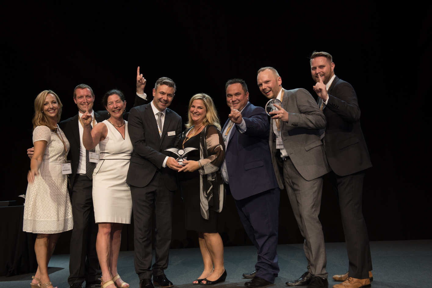 YVR team collect World Routes Award