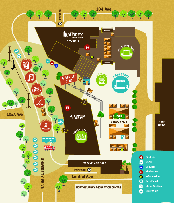2018 Party for the Planet venue map