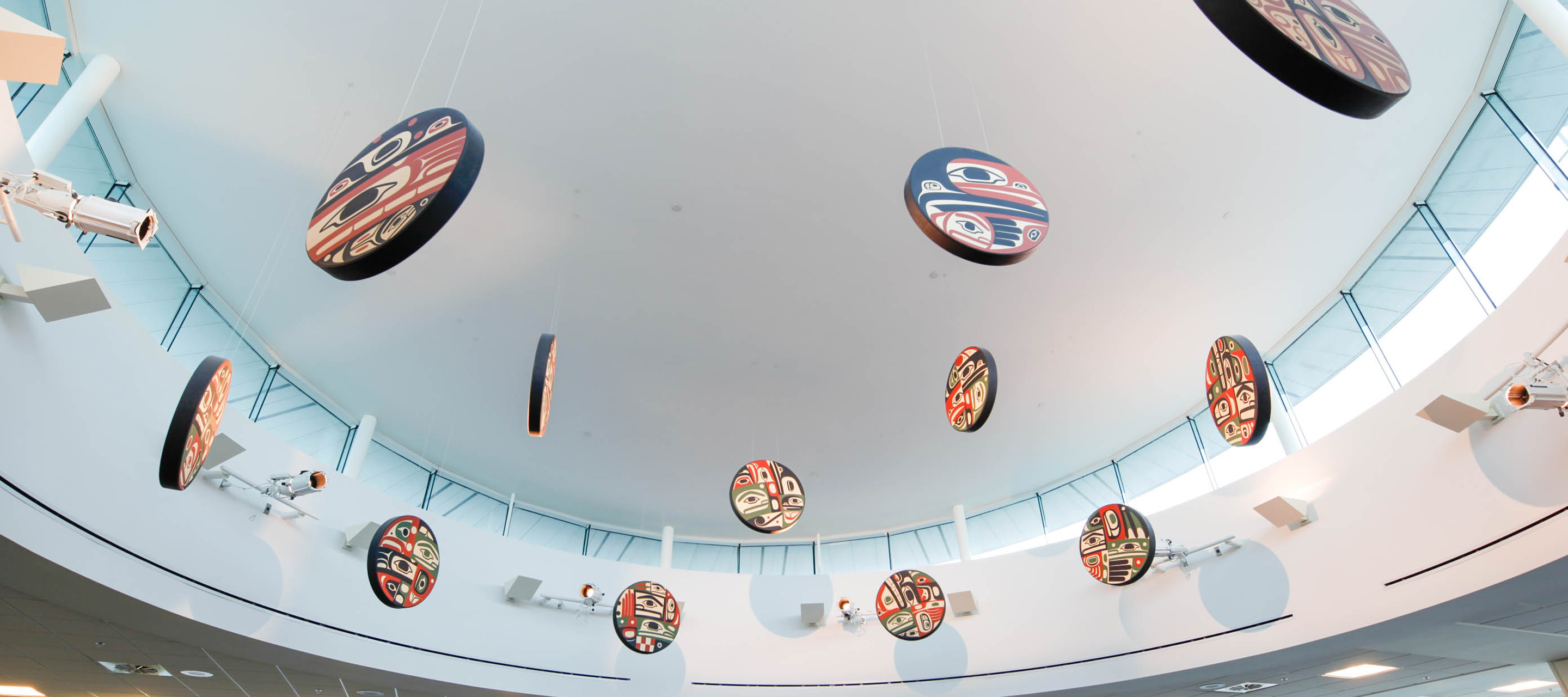 "Image of ""Sky to Sky"" art piece at YVR"
