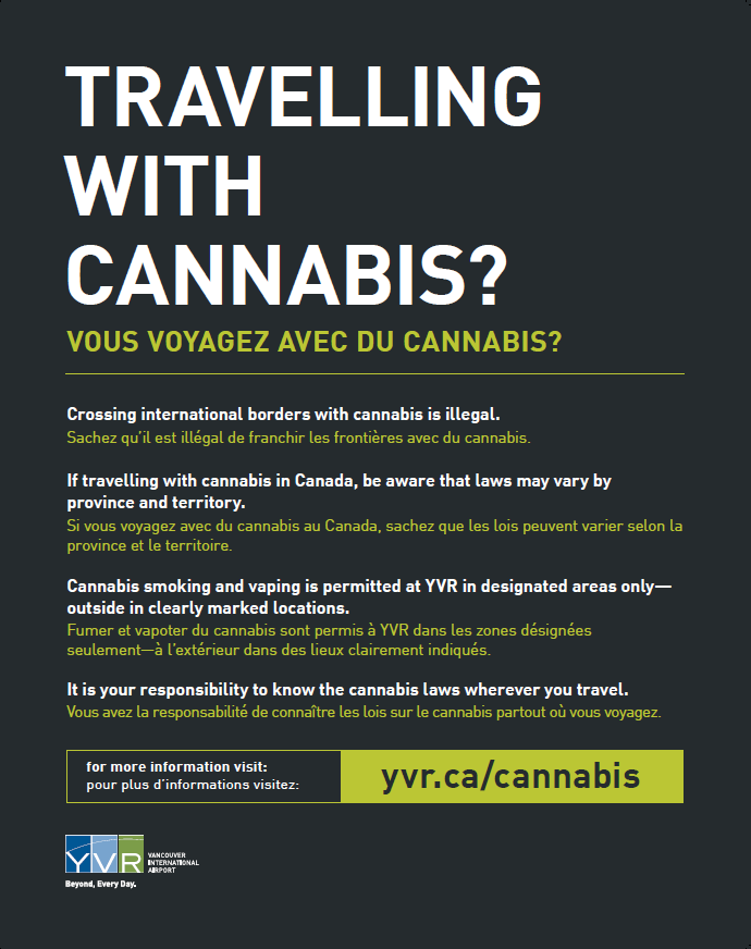 Picture of YVR cannabis signage