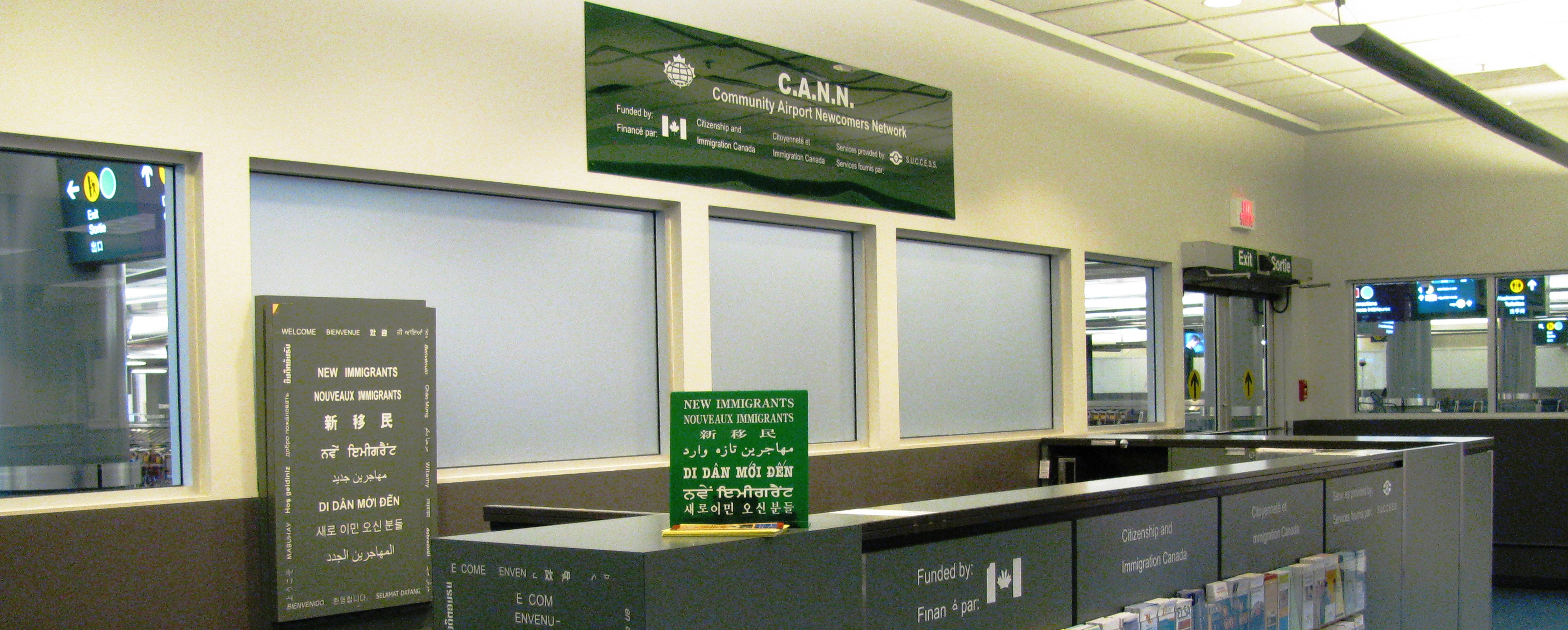 Picture of Community Airport Newcomers Network kiosk